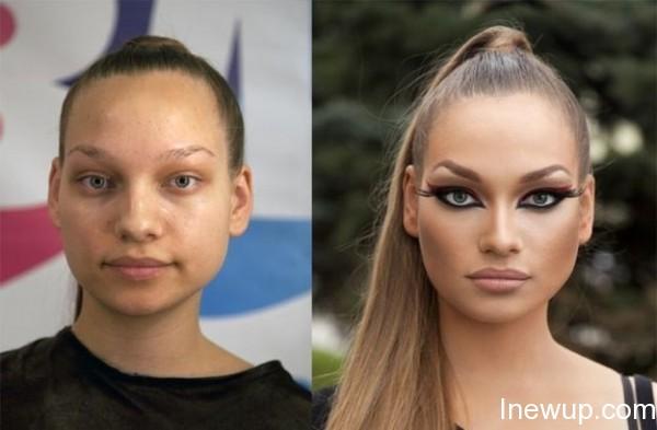 化妆前后:看俄罗斯姑娘告诉你妹子图的真相 [火星]